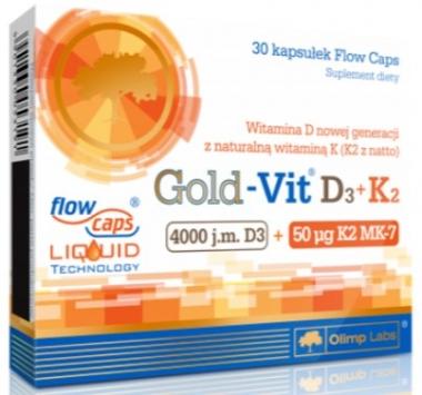 GOLD-VIT® D3+K2 30 KAPS OLIMP LABS